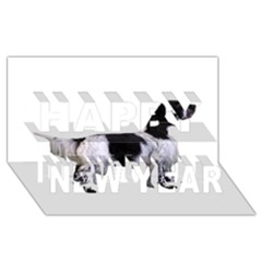 English Setter Full Happy New Year 3D Greeting Card (8x4)