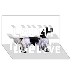 English Setter Full Laugh Live Love 3D Greeting Card (8x4)
