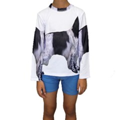English Setter Full Kids  Long Sleeve Swimwear