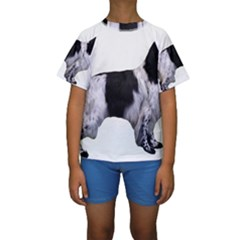 English Setter Full Kids  Short Sleeve Swimwear