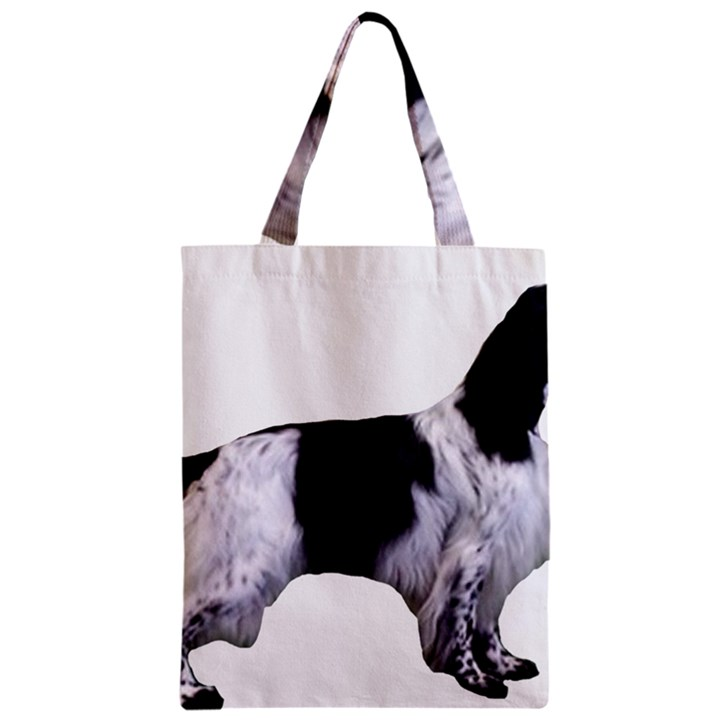 English Setter Full Zipper Classic Tote Bag