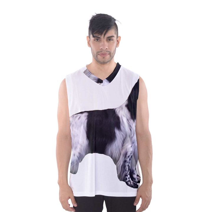 English Setter Full Men s Basketball Tank Top