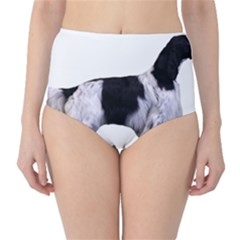 English Setter Full High-Waist Bikini Bottoms