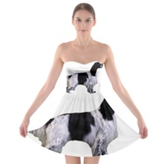 English Setter Full Strapless Bra Top Dress
