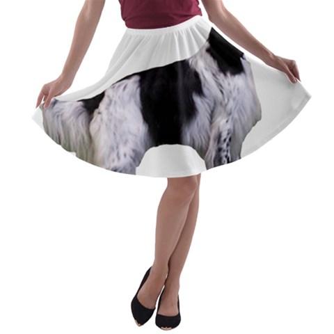 English Setter Full A-line Skater Skirt