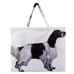 English Setter Full Zipper Large Tote Bag