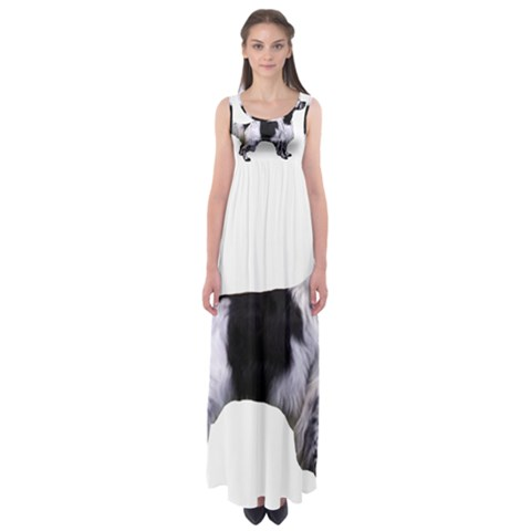 English Setter Full Empire Waist Maxi Dress