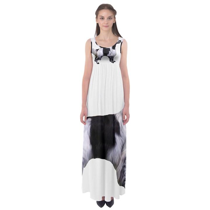 English Setter Full Empire Waist Maxi Dress