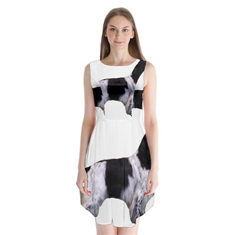 English Setter Full Sleeveless Chiffon Dress