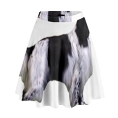 English Setter Full High Waist Skirt