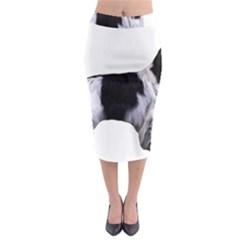 English Setter Full Midi Pencil Skirt
