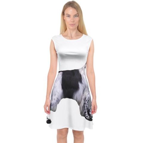 English Setter Full Capsleeve Midi Dress