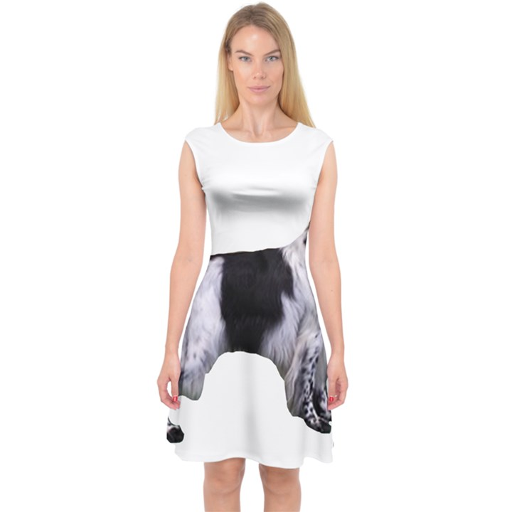 English Setter Full Capsleeve Midi Dress