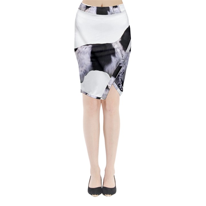 English Setter Full Midi Wrap Pencil Skirt