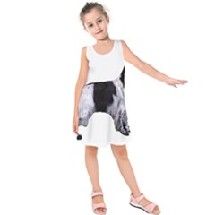 English Setter Full Kids  Sleeveless Dress