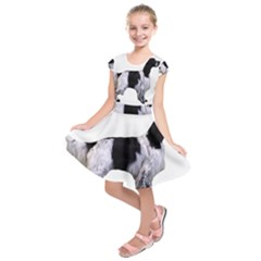 English Setter Full Kids  Short Sleeve Dress