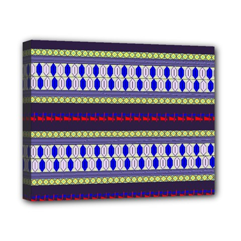 Colorful Retro Geometric Pattern Canvas 10  x 8