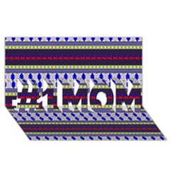 Colorful Retro Geometric Pattern #1 Mom 3d Greeting Cards (8x4)