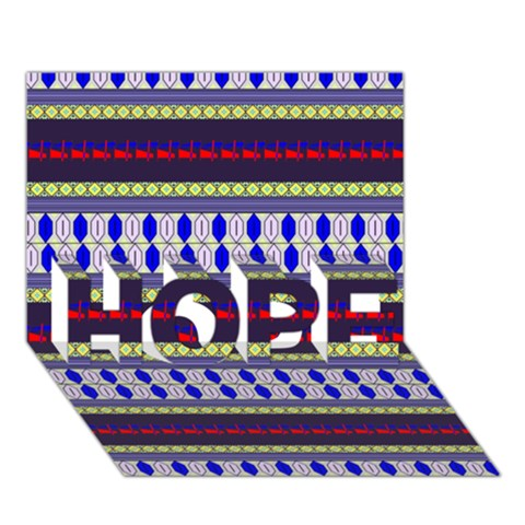 Colorful Retro Geometric Pattern HOPE 3D Greeting Card (7x5)
