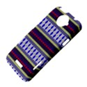 Colorful Retro Geometric Pattern HTC One X Hardshell Case  View4