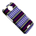 Colorful Retro Geometric Pattern HTC One X Hardshell Case  View5