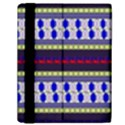Colorful Retro Geometric Pattern Samsung Galaxy Tab 10.1  P7500 Flip Case View2