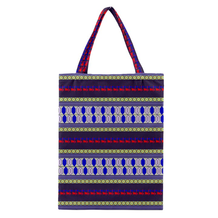 Colorful Retro Geometric Pattern Classic Tote Bag