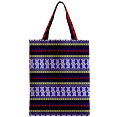Colorful Retro Geometric Pattern Zipper Classic Tote Bag