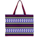 Colorful Retro Geometric Pattern Large Tote Bag View1