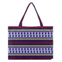 Colorful Retro Geometric Pattern Medium Tote Bag View1