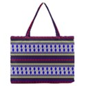 Colorful Retro Geometric Pattern Medium Zipper Tote Bag View1