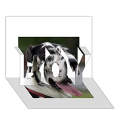Great Dane harlequin  BOY 3D Greeting Card (7x5)