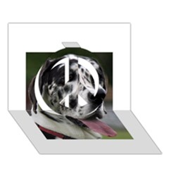 Great Dane harlequin  Peace Sign 3D Greeting Card (7x5)