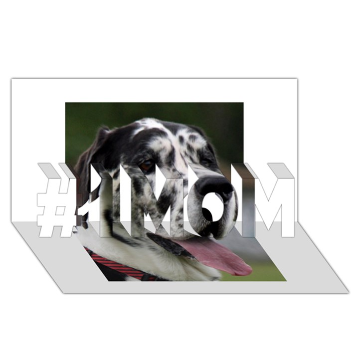Great Dane harlequin  #1 MOM 3D Greeting Cards (8x4)