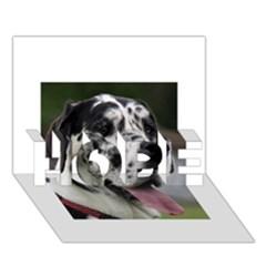 Great Dane harlequin  HOPE 3D Greeting Card (7x5)