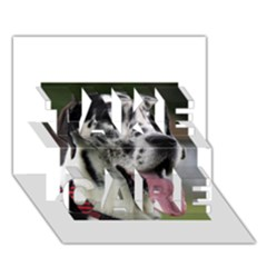 Great Dane harlequin  TAKE CARE 3D Greeting Card (7x5)