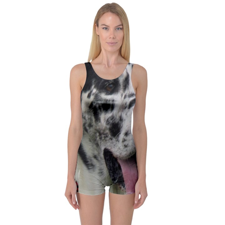 Great Dane harlequin  One Piece Boyleg Swimsuit