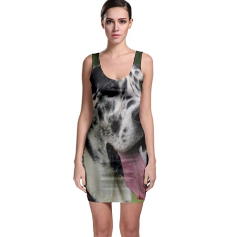 Great Dane harlequin  Sleeveless Bodycon Dress