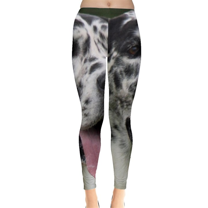 Great Dane harlequin  Leggings