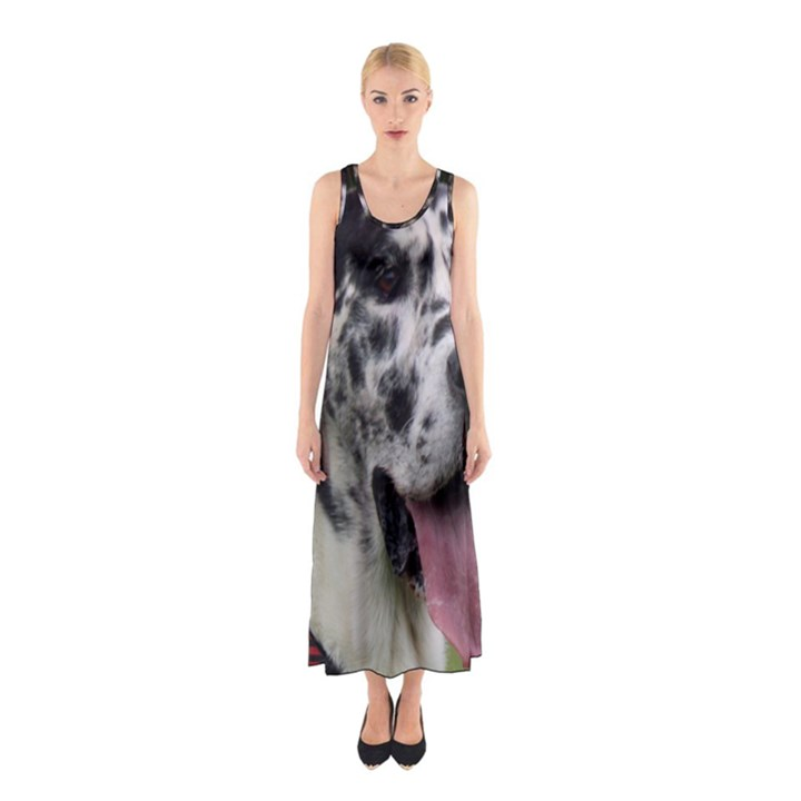 Great Dane harlequin  Sleeveless Maxi Dress