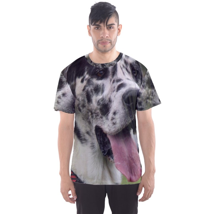 Great Dane harlequin  Men s Sport Mesh Tee