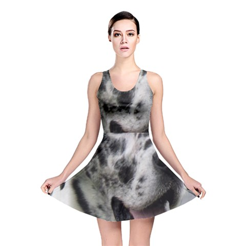 Great Dane harlequin  Reversible Skater Dress