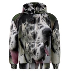 Great Dane Harlequin  Men s Zipper Hoodie