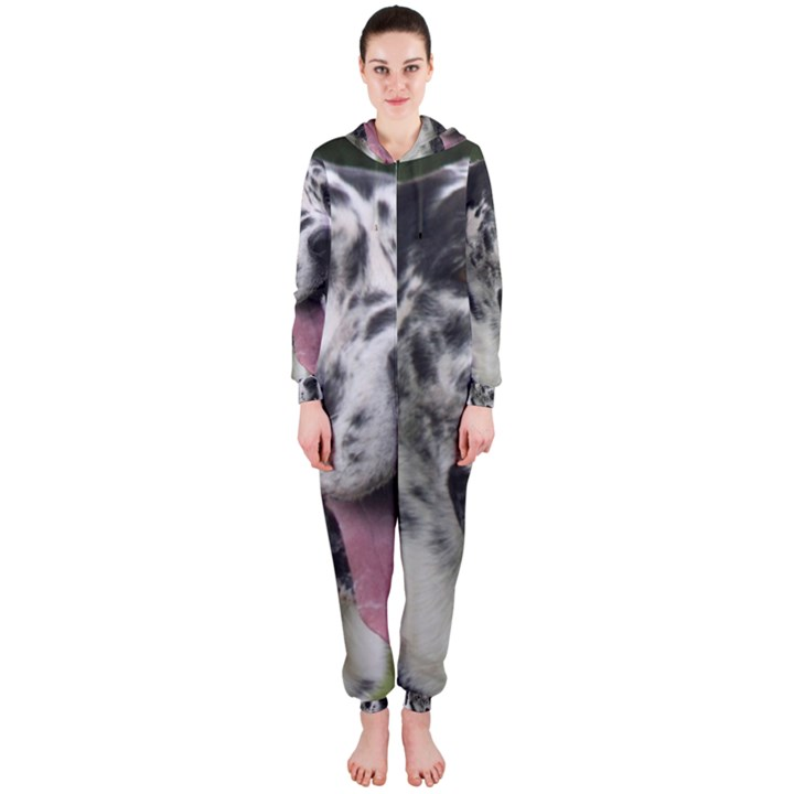 Great Dane harlequin  Hooded Jumpsuit (Ladies)