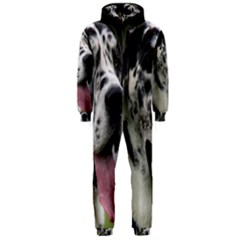 Great Dane harlequin  Hooded Jumpsuit (Men)