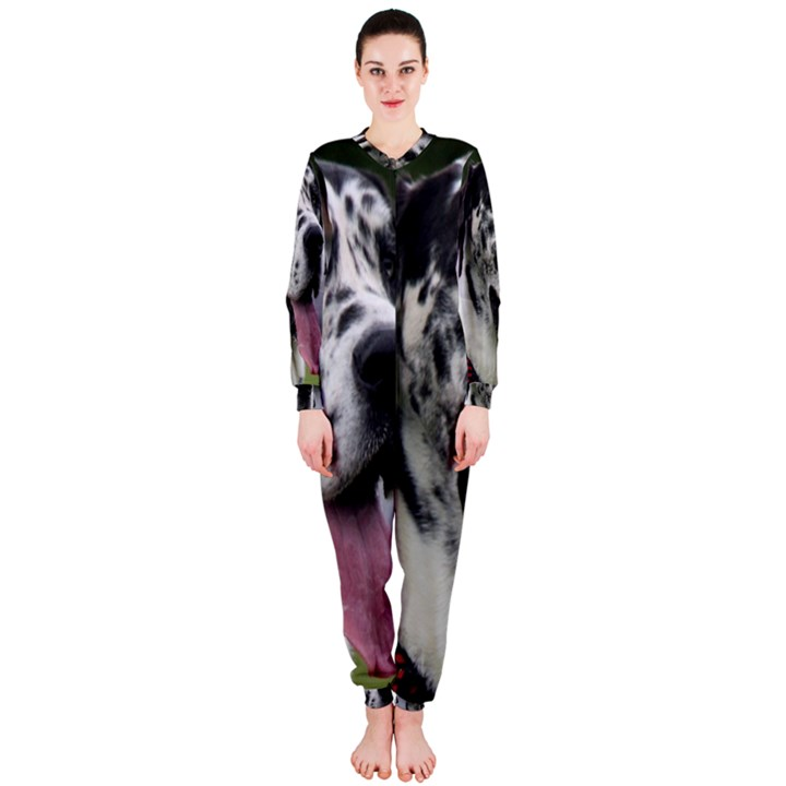 Great Dane harlequin  OnePiece Jumpsuit (Ladies)