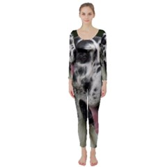 Great Dane harlequin  Long Sleeve Catsuit