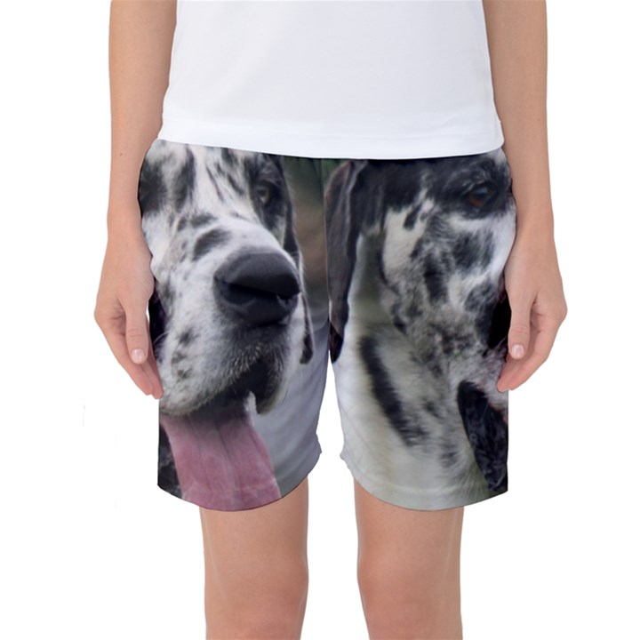Great Dane harlequin  Women s Basketball Shorts