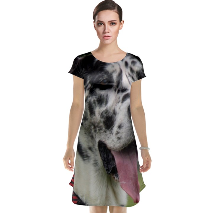 Great Dane harlequin  Cap Sleeve Nightdress