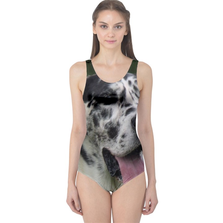 Great Dane harlequin  One Piece Swimsuit
